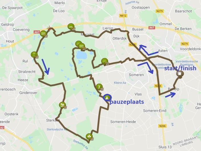 route 55 km